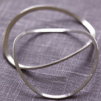 Silver Honesty Bangle