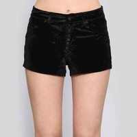 Darling Sinner Velvet Shorts - Gypsy Warrior