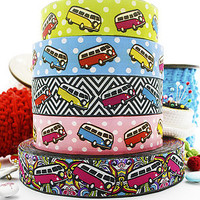 Hippie Polkadot Or Geometric Caravan Ribbon