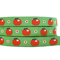 Retro Apples Woven Ribbon