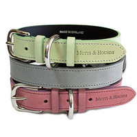 Pastel Leather Dog Collar