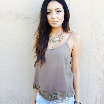 Mocha Crochet end top