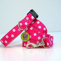 Bubblegum Spotty Dog Collar
