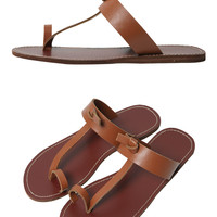 Simple Leather Summer Flip Flops