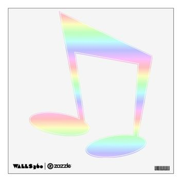 Musical Note Pastel Rainbow Wall Decal