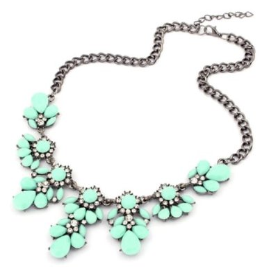 Tonsee(TM) Latest 1PC Vintage Flower Crystal Bubble Bib Choker Statement Women Necklace