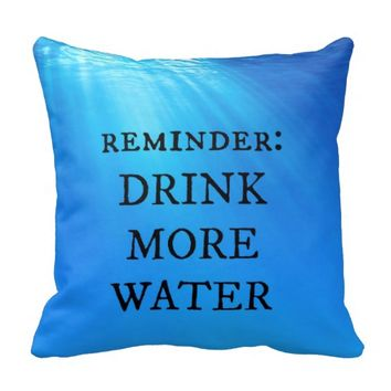 Drink More Water Pillow