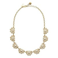 kate spade | sweet zinnia crystal short necklace