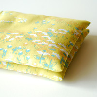 Soft Yellow Floral Organic Lavender Sachets Set of 2
