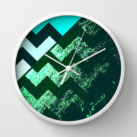 rational meets irrational (in mint flavor) Wall Clock by Marianna Tankelevich | Society6