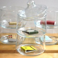 Set of 6 Vintage Space Saving Jars by OctaviaBrown on Etsy