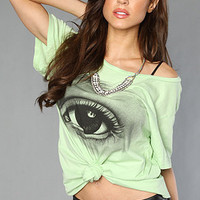 The Jenny Mortsell Eye Boyfriend Tee in Nile Green