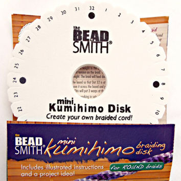 Kumihimo Mini Braiding Disk by BeadSmith, UK Supplier, Kumihimo Braiding Supplies, Jewelry Tool, Weaving Disk, Japanese Braiding Tool