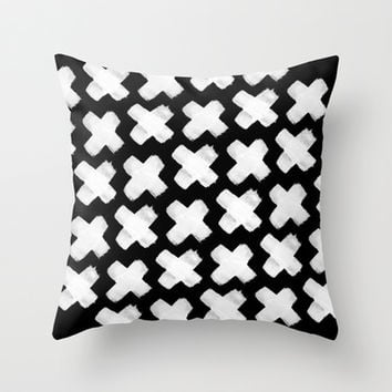 Black xxx Throw Pillow by Grace