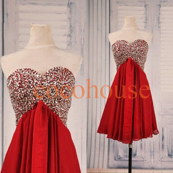 Wine Red Beaded Prom Dresses Chiffon Bridesmaid Dresses Party Dresses Hot Homecoming Dresses Evening Dresses Wedding Party Dresses