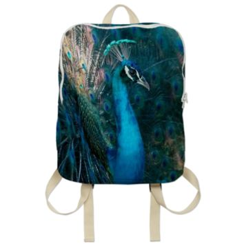 Blue Peacock Backpack created by ErikaKaisersot | Print All Over Me