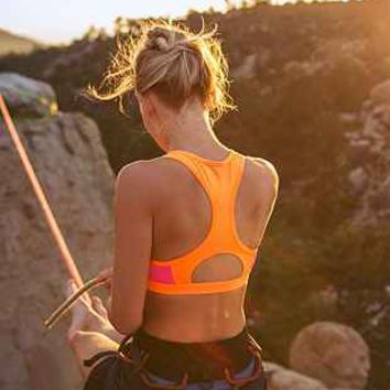 Without Walls Colorblock Racerbcak Sports Bra - Urban Outfitters