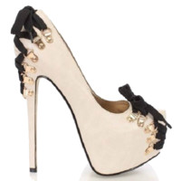 Rocka Nude Platform Corset Goth Pump High Heel Shoes