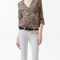 ANIMAL PRINT BLOUSE - Shirts - Woman - ZARA United States