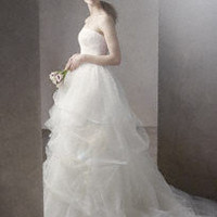 Ball Gown with Corded Lace Bodice and Tulle Skirt