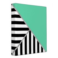 Trifold Teal and Stripes