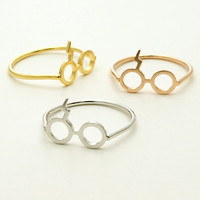 BACK ORDER - Harry Potter Glasses Ring in Silver / R078S