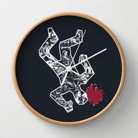 Crime Noir Wall Clock by Peter Kramar