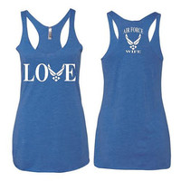 Air Force Love Wife Women Tank Top Triblend Racerback Tank