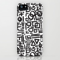 ABSTRACT 4 - BLACK & WHITE iPhone & iPod Case by Matthew Taylor Wilson