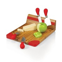 SheilaShrubs.com: Artisan Cheese Board - Natural Wood w/ Red Accents 916-00-100-000-0 by Picnic Time : Cheese & Cutting Boards