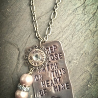 "Johnny Cash inspired 16 GA shotgun shell necklace.  ""I keep a close watch on this heart of mine"""