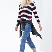 Striped Raglan Sweater