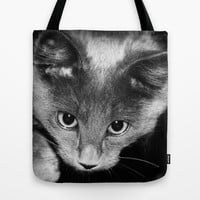 kitten Tote Bag by Marianna Tankelevich | Society6