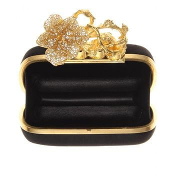 Satin box clutch