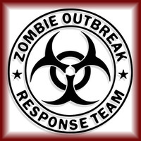 "Zombie Outbreak Response Team Vinyl Cell Phone Decal - 2.5"" - 16 Color Options - iPhone, iPod, iPad, Android, Most Cell Phones"