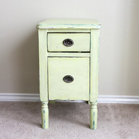Pale apple vintage side table