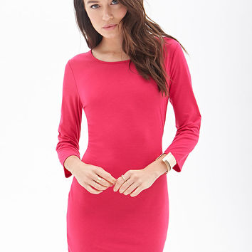 Long-Sleeved Sheath Dress