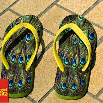 Flip Flops - peacock-feathers