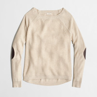 FACTORY WARMSPUN SWINGY ELBOW-PATCH SWEATER