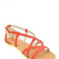 CRISS-CROSS STRAPPY SANDAL @ KiwiLook fashion