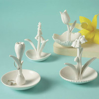 Flower Ring Holders from Two's Company