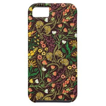 Tropical Garden Floral Pattern Apple iPhone 5 Case