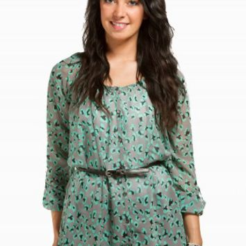 LEOPARD TUNIC BELTED SHIRT