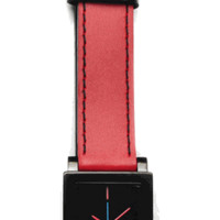 Taki Sibley Watch, Red/Black - The Afternoon