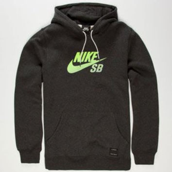 Nike Sb Icon Gradient Mens Hoodie Heather Grey  In Sizes