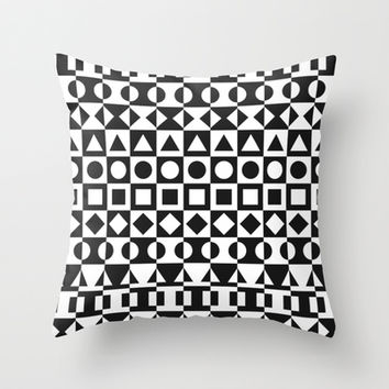 Black And White Throw Pillow by Ornaart