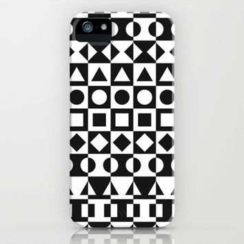 Black And White iPhone & iPod Case by Ornaart