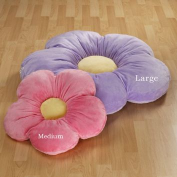 Daisy Pillow Size: Large, Color: Purple