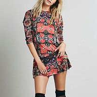 Free People Womens FP New Romantics Fiesta Floral Dress - Garden Combo,