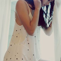 Wildfox Couture Starry Night/Sweet Dreams Cami Pajama Set in Vanilla